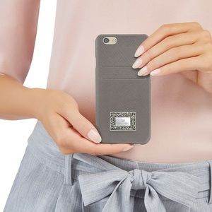 Swarovski iPhone Saffiano leather case